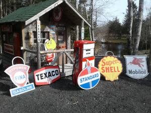 LARGE GAS OIL AND DIESEL SIGNS