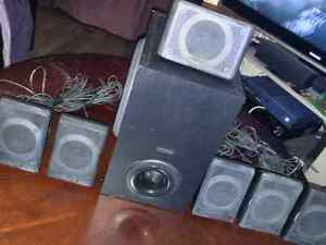Creative surround sound 8 speaker system 50$