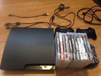 PS3, 3 Controllers & 11 Games £100 ONO