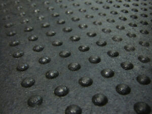 "4' x 2' x 5/8"" Rubber Mats Featuring Dome-Top Design"