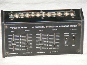 Realistic 4 channel stereo mic mixer  model 32-1105