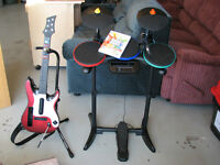 Wii Band Hero Drumset, Guitar and more