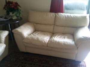 white leather sofa for sale $200 obo