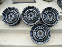 NEW WINTER STEEL RIMS 14X6 ( 5X100MM) $100 OR TRADE