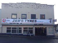 New & part worn worn tyres