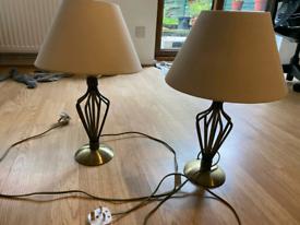 2 metal lamps