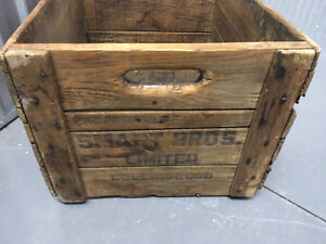 Antique wooden advertising shipping crate   Snart Bros. Ltd.