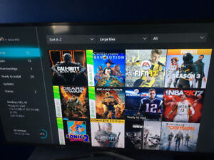 Microsoft Xbox one account with 40 games and year xbox live