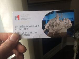Entrée familiale au musee /family museum admission