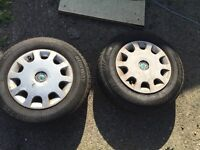 2 ENDURO wheels with tyres for Audi, Ford, Mercedes, Skoda or Volkswagen