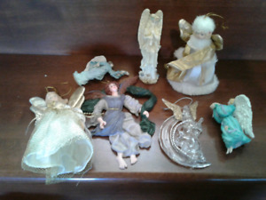 Lot of Angel Christmas Ornaments
