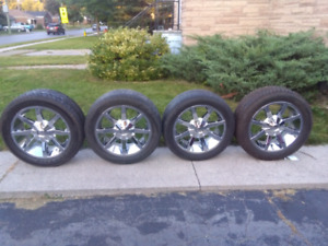 "20"" chrome rims and tires for sale $1,200"