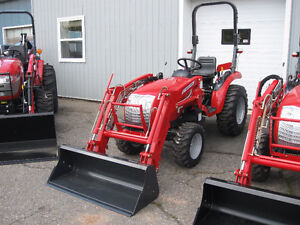 """McCormick 24hp Tractor with Loader and 60"""" Blower"""