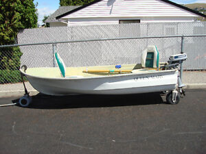 10 Foot Car Top BOat with 2HP Evenrude Motor