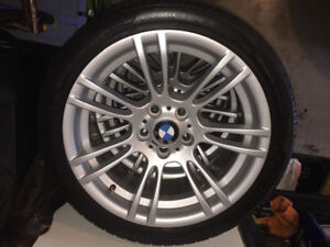 "18"" Bmw M package wheels wrapped in Pirelli tires"