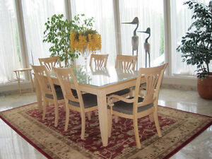 elegant dining table set with 6chairs and buffet