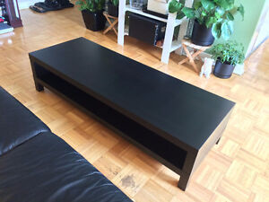 IKEA Black-Brown Lack TV Bench - TV Table - Coffee Table