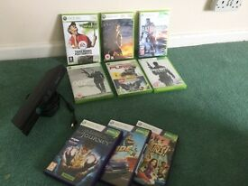 Xbox 360 game bundle with Kinect