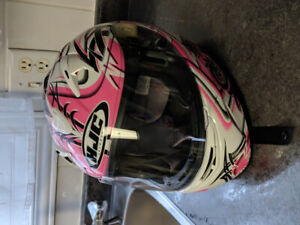 Woman's motorcycle helmet. Mint condition!