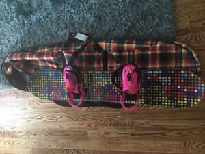Gently used Burton Snowboard, bindings, boots and New Carry Bag