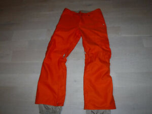 Burton Dry Ride Snowboard Pants Mens Medium Orange