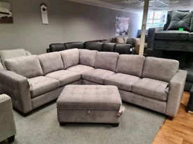 Brand new 7 seater corner sofa +storage ottoman box