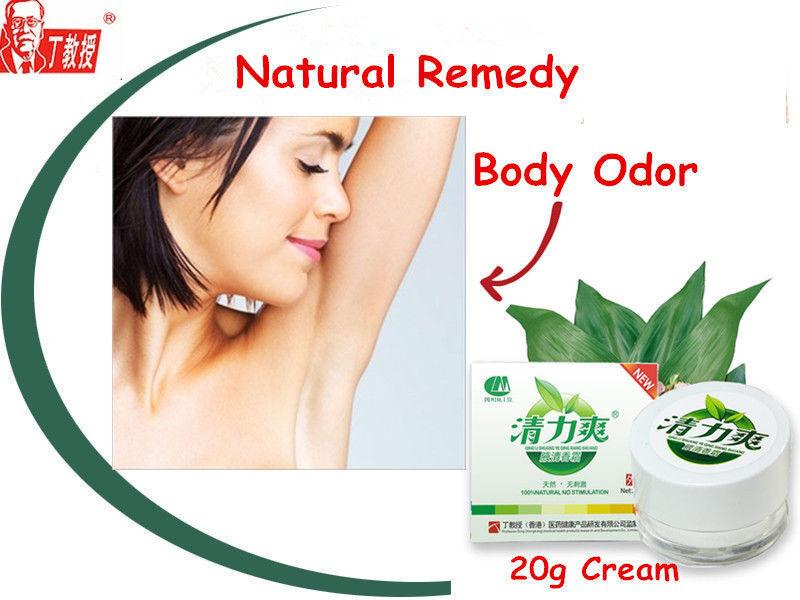 Natural remedies body odor cream Antiperspirant deodorant Bromhidrosis