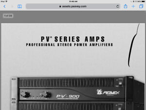 PEAVEY AMPLIFIER ( PV-900  ) and 15in  SPEAKERS