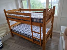 Hard wood bunk bed