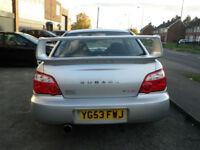2003 Subaru Impreza 2.0 WRX STI Type PPP UK 4DR 53 REG Petrol Silver