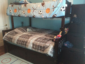Bunk bed with steps and drawers for Sale