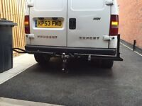 Motorbike tow bar carrier