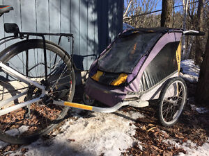 TANDEM CHARIOT WITH BIKE TRAILER ATTACHMENT