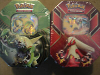2 Pokemon Trading Card game Tin Box Still Sealed For Sale