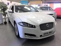 2014 14 Jaguar XF 2.2TD Sportbrake Auto Luxury,White