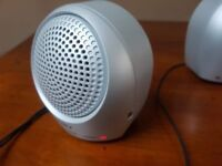 sony silver mini speakers mp3 active srs-a5s 1.5 watts