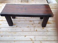 Coffee table 2 1/2 inches thick 50 1/2 inches in lenth