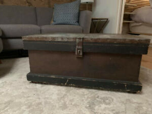 Solid Antique Trunk