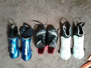 Soccer shoes and Shin guards for kids