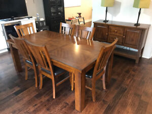 Dining room table and buffet