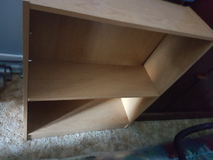 2 oak color bookcases