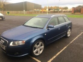 Audi A4 avant, 2ltr S-Line, 2005, blue, full leather