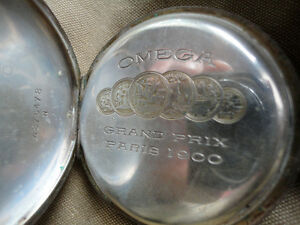 Omega Top Wind Silver Pocket Watch Grand Prix Paris 1900