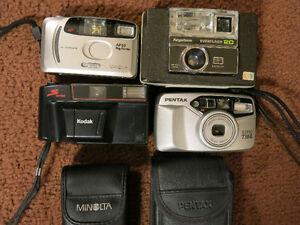 4 Working FILM Camera's