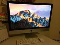 Apple iMac 27 inch desktop computer (10,1 model) 8gb RAM, 240gb SSD, Intel 3.06ghz, MacOS Sierra