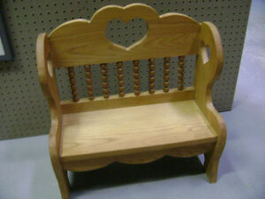 Dolls wood chairs and bench London Ontario image 3