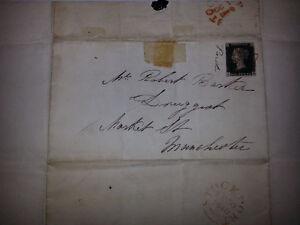 Penny Black Stamp SEPT 30 1840 on a letter