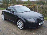 2005 05 Plate Black Audi TT Coupe 1.8 ( 180bhp ) Full Black Leather