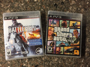 Battlefield 4 & Grand theft auto 5 for PS3
