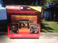 8.0 AMP ROUTER AND DELUXE ROUTER TABLE COMBO (FACTORY SEALED)